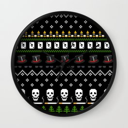 Rock N Roll Christmas Wall Clock