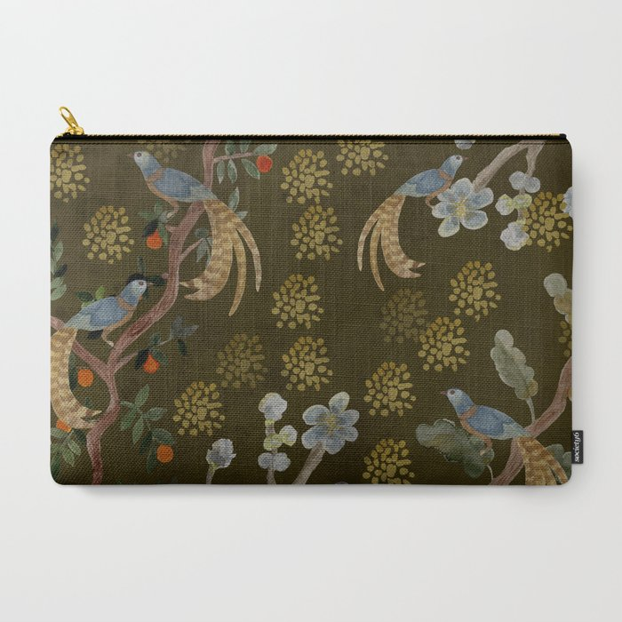 Golden Chinese Forest - Chinese Art Carry-All Pouch
