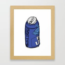 Bud Light Can Framed Art Print