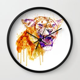 Angry Lioness Wall Clock