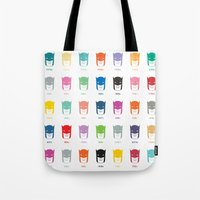 pantone Tote Bags featuring Pantone Knight by James Northcote