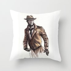 Nick Valentine Throw Pillow