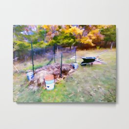 Compost in the garden Metal Print