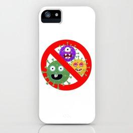 Stop Virus iPhone Case