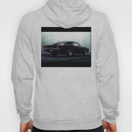 CLASSIC MUSCLE CAR IN BLACK DURING FOG Hoody