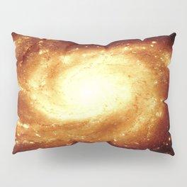 Golden Spiral Galaxy Pillow Sham