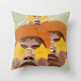 Orange Stardom Throw Pillow