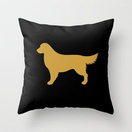 Golden Retriever (Black/Gold) Throw Pillow