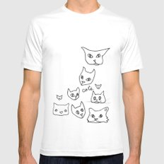 Cats Cat Mens Fitted Tee White MEDIUM