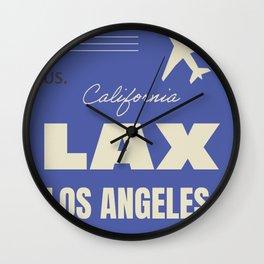 Airport code sticker LAX Wall Clock