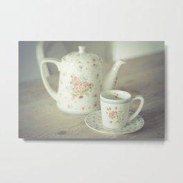 Time For Tea Metal Print