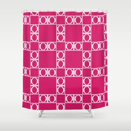 angle red & white Shower Curtain