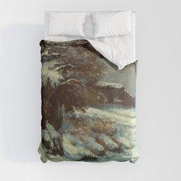 """Gustave Courbet """"Effet de neige (Snow Effect)"""" Comforters"""