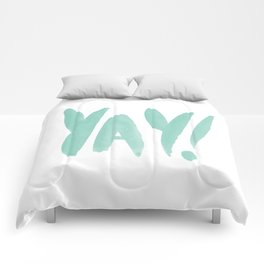 Yay brushed typography Comforters