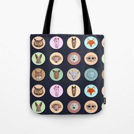 Vector animals in circles Tote Bag