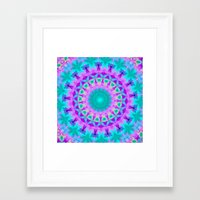 kaleidoscope Framed Art Prints featuring Kaleidoscope by Sylvia Cook Photography