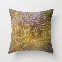 Double Spider Web Throw Pillow