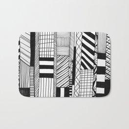 Mono Geo Lines Bath Mat