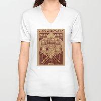 dalek V-neck T-shirts featuring Dalek propaganda by Buby87