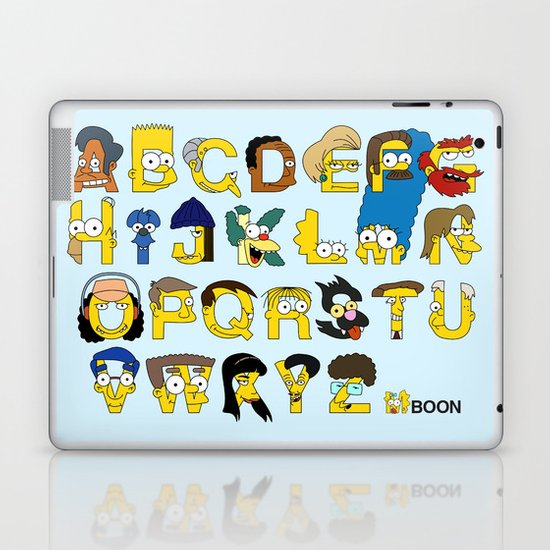 Simpsons Alphabet Laptop & iPad Skin