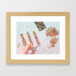 High on Sugar Framed Art Print