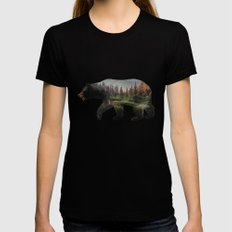 The North American Black Bear MEDIUM Black Womens Fitted Tee