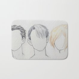 Yuuri/Victor/Yuri hair Bath Mat