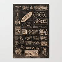 cycling Canvas Prints featuring Re. Cycling by NOT MY TYPE