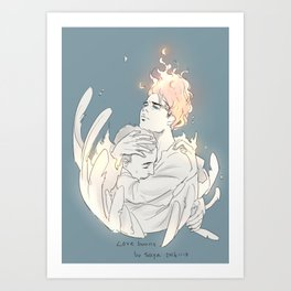 Love Burns Art Print