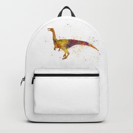 Gallimimus dinosaur in watercolor Backpack