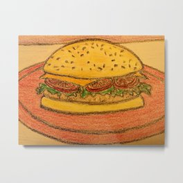 Burger with cheese Metal Print