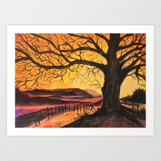 Winter Sunset by Veron Ramsawak Art Print