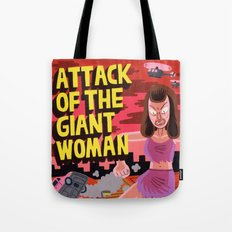 Attack of the Giant Woman Tote Bag
