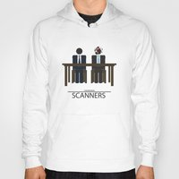 movie poster Hoodies featuring Scanners - Altenative Movie Poster by maclac