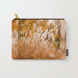 Detail of Miscanthus ornamental grass Carry-All Pouch