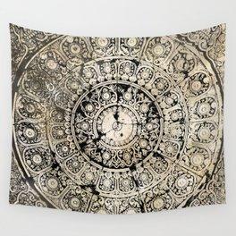 BLACK & GOLD MANDALA ARMARRI OKRE Wall Tapestry