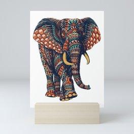 Ornate Elephant v2 (Color Version) Mini Art Print