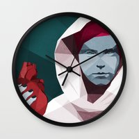 hunting Wall Clocks featuring HUNTING by ANDRESZEN