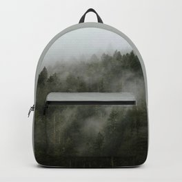 Pacific Northwest Foggy Forest Backpack