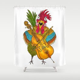 Screeching Rooster Shower Curtain
