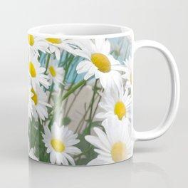 Daisies flowers in painting style 8 Coffee Mug
