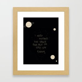 I wish I was in space (Retro) Framed Art Print