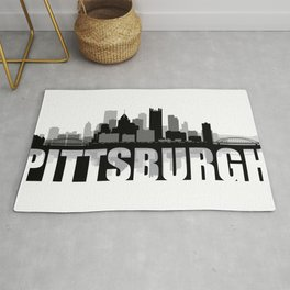 Pittsburgh Silhouette Skyline Rug