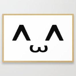 ^ ω ^ Framed Art Print