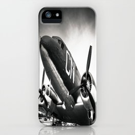 C-47D Skytrain Black and White iPhone Case