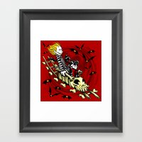 Calvydia and Beetlehobbes Framed Art Print