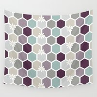 honeycomb Wall Tapestries featuring Honeycomb by Kathrin Legg