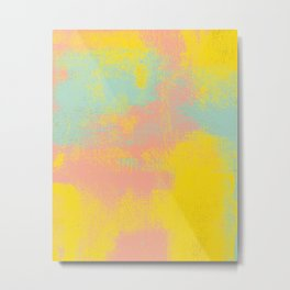 Pink Yellow Light Teal Metal Print