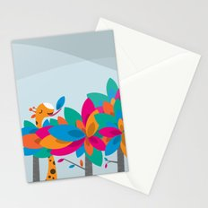 Orange and Trees Stationery Cards