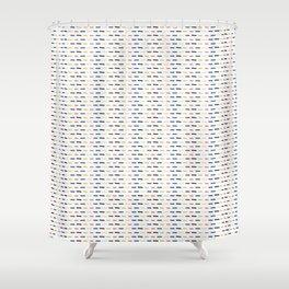 Geometric Doodle Stripes Shower Curtain